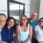 De izquierda a derecha: Sr. Maynor Barrientos (Director), Dra, Lucrecia Chumpitaz, Dra. Marianela Salas, Jorge Meneses y Melissa Mora.