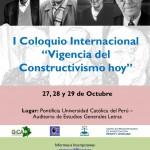 Poster Coloquio Constructivismo