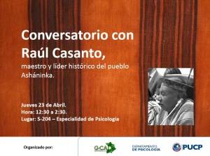 Conversatorio con Raúl Casanto.