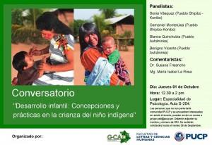 Afiche conversatorio desarrollo infantil