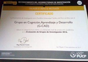 Certificado gcad 2017